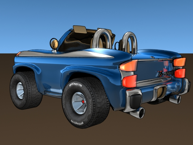 Cartoon car (Lightwave 3D)