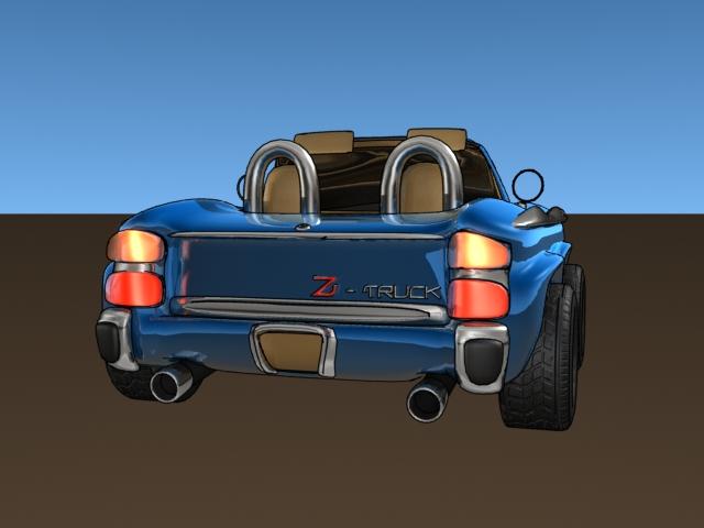 Cartoon car (Lightwave 3D)